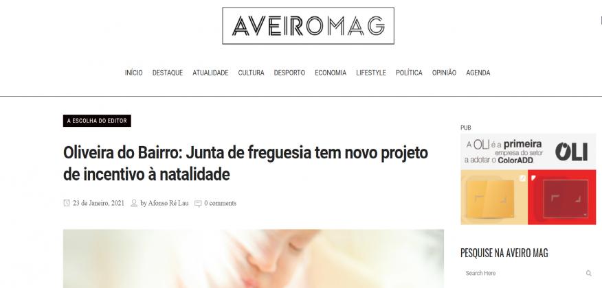"Projeto ""Mamã Cegonha"" na AveiroMag"